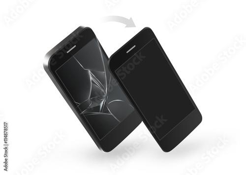 Fotografía  Phone broken screen repair