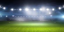 Football Stadium In Lights . M...
