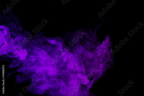 Abstract purple smoke hookah. - 114886133