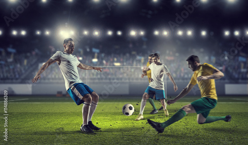 Hot football moments . Mixed media - 114886309
