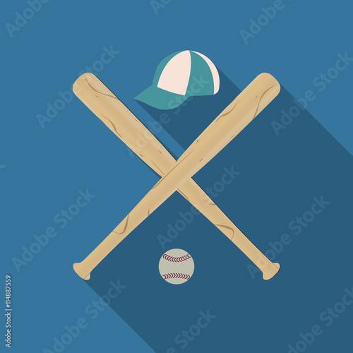 Photo  Baseball icon, vector illustration.