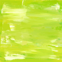 Lime Green Texture With White Brush Strokes; Abstract Vector Bac
