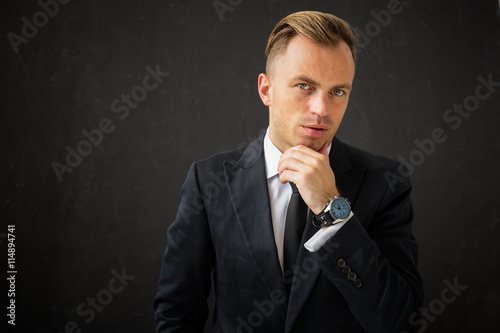 obraz dibond Portrait of business man