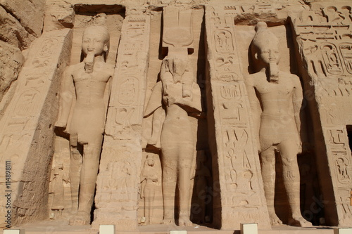In de dag Egypte Ramses Tempel Abu Simbel in Ägypten