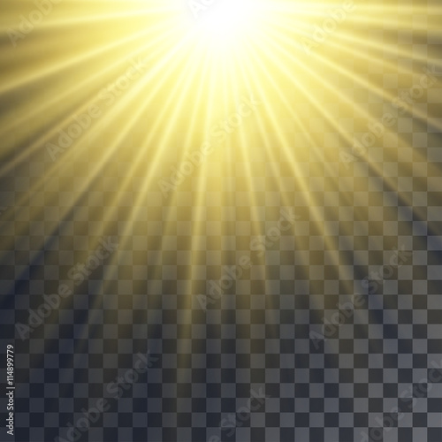 Sun rays effect Wallpaper Mural