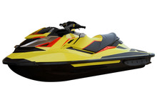 Contemporary Yellow Jet Ski.