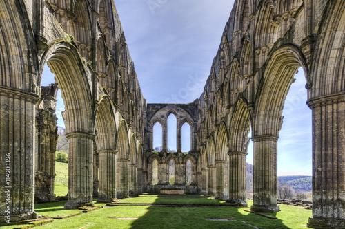 Aluminium Prints Ruins Rievaulx Abbey
