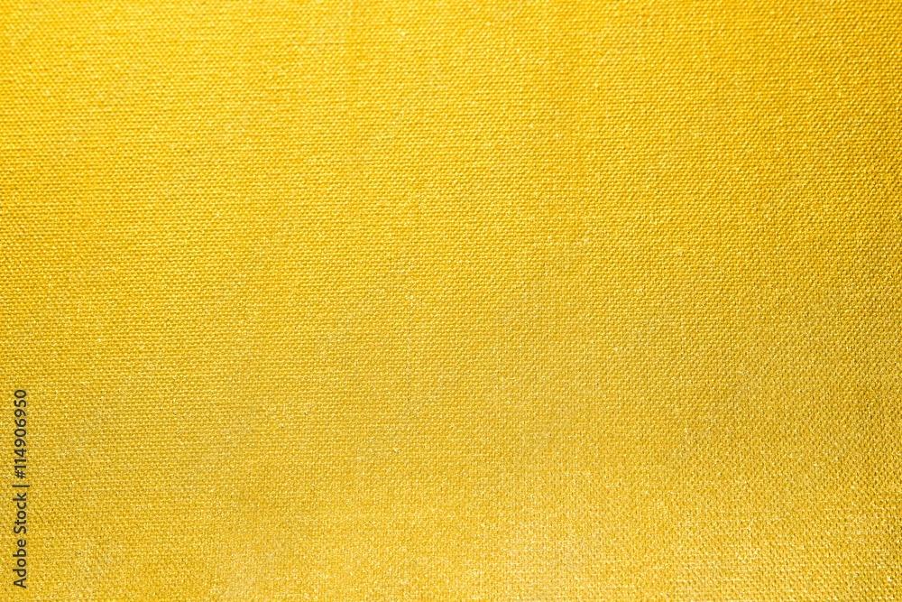 Fototapety, obrazy: Goldgelb angemalte Leinwand als Hintergrund