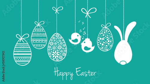 Happy easter card wishes garland buy this stock vector and happy easter card wishes garland m4hsunfo