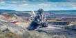 canvas print picture - Explosure on open pit