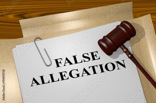False Allegation legal concept Canvas Print