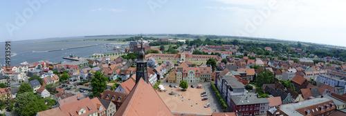 Fotografie, Obraz  Blick über den Hauptplatz von Barth