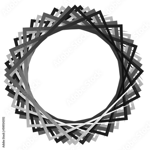 Papiers peints Attraction parc Abstract rotating intersecting squares. edgy, sharp spiral, vort