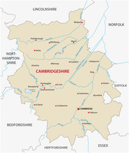 Vector Map Of The County Cambr...