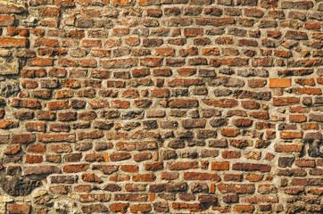 FototapetaOld red brick wall texture