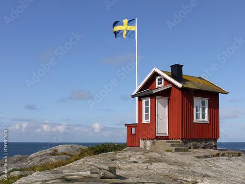Fotografía  Lotsenhaus auf der Schäreninsel Vrångö an der schwedischen Westk