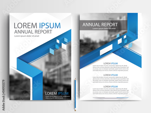 Blue Abstract Vector Modern Flyers Brochure Annual Report