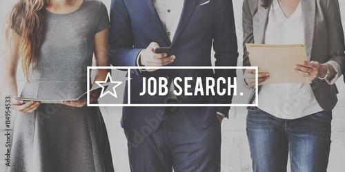 Job Search Seekers Career Applicant Recruitment Concept Canvas Print
