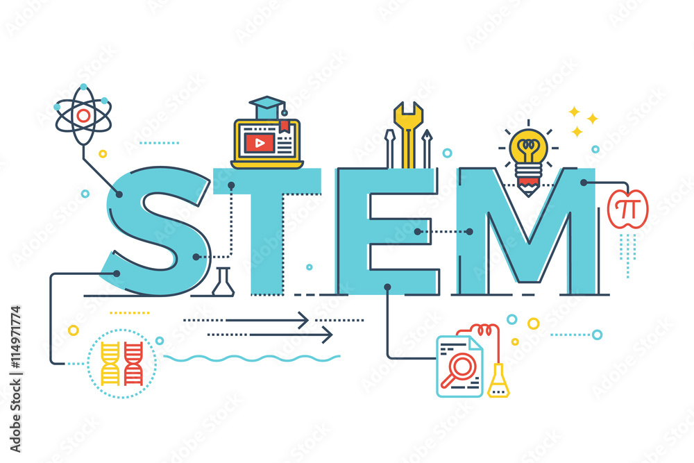 Fototapety, obrazy: STEM - science, technology, engineering, mathematics