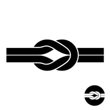 Knot Black Symbol. Two Wire Wi...