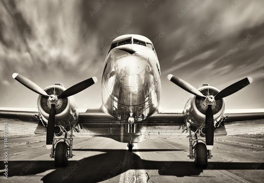 Fotomural vintage airplane
