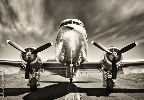 Poster Retro vintage airplane