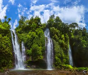FototapetaSekumpul Waterfall - Bali island Indonesia