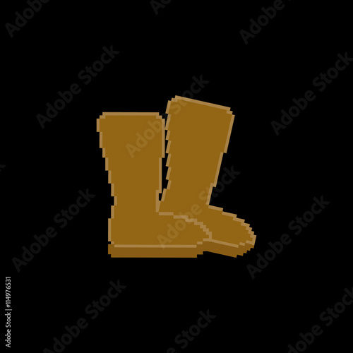 Pixel art. Vector illustration. Winter boots , Buy this