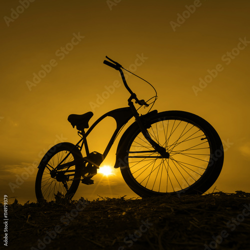 Fotografie, Obraz Silueta kolo