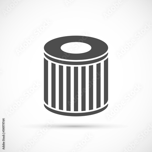 Photo  Car oil filter icon