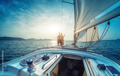 Fotografia  Couple on the yacht