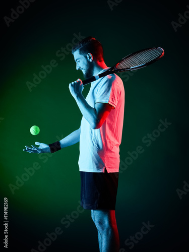 tennis player man isolated Poster