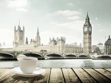 Big Ben And Cup Of Coffee, Lon...