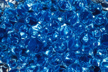 Blue Gel Balls/Horizontal Abstract Background