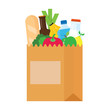 Paper bag, package with food and drink products