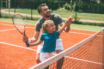 Tennis is fun when father i...