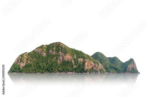 Foto auf Gartenposter Gebirge Mountain isolated