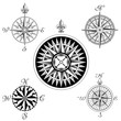 Vector Compass Rose Set