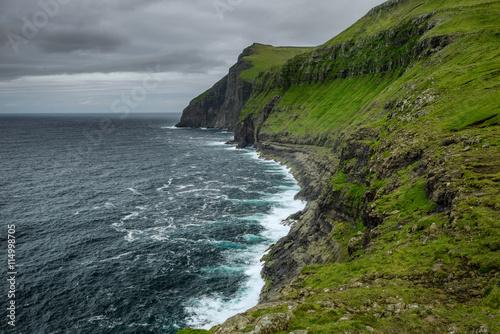 In de dag Noord Europa Giant sea cliffs on Faroe Islands