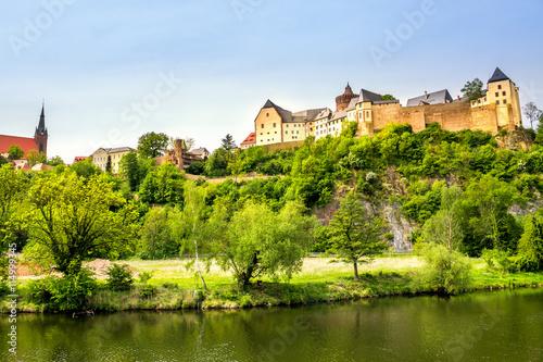 Foto auf Gartenposter Stadt am Wasser Burg Mildenstein, Leisnig