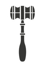 Wooden Gavel Isolated Icon Design