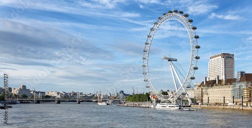 Photo London Eye an der Themse, England