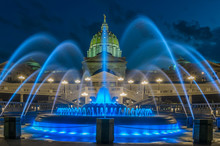 Pennsylvania Capital Building And Fountain