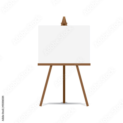 Art Easel and blank canvas space ready for your advertising and Canvas Print