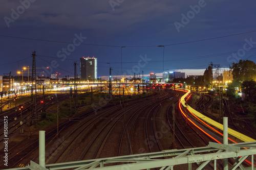 Foto auf AluDibond Bahnhof Central railway station at Mannheim in Germany.