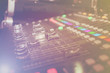 background of audio mixer