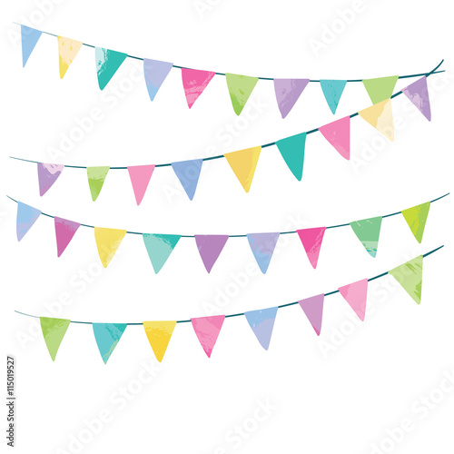 Fotografia  Holiday background with hand drawn flags