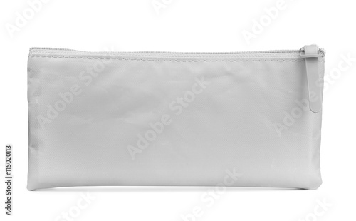 Front view of grey pencil case Canvas Print