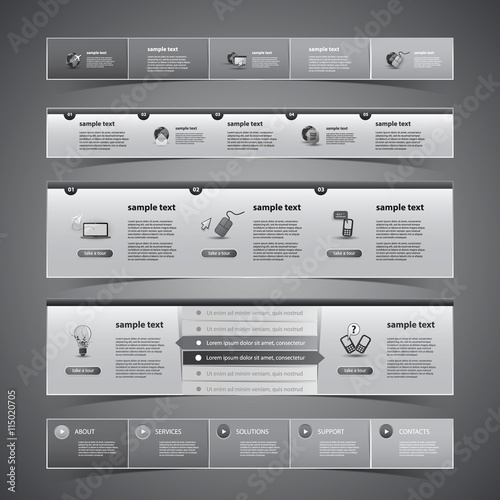 Fototapeta     Web Design Elements  obraz