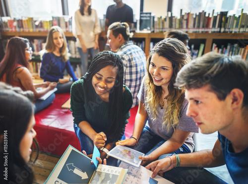 Fotografie, Obraz  Library Friendship Corporate Disscussion College Concept